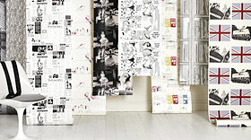 Wallpaper murals for walls image - Designer black and white