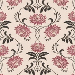 Wallpaper Design floral pink black grey